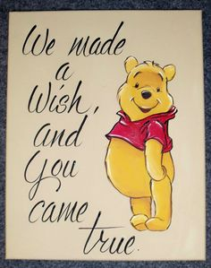 Winnie the Pooh Nursery Art ... Isnt this the truth when u find out about your bundle of joy??!!