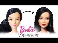 Barbie Makeover: Doll Repaint #2 - Barbie Made To Move - YouTube