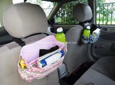 Compact Car Organizer Bags - Free Tutorial + Seven Ways to Sew with Elastic