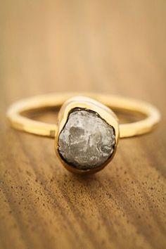 RAW DIAMOND NUGGET RING