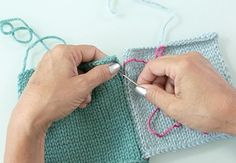Creativebug online class: The last part of any knitting project is called finishing, when all your hard work comes together into one magnificent creation! Debbie covers some of the most common finishing techniques – including seaming pieces together, the Kitchener stitch, working away yarn ends, blocking and much more.