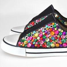 How super cool are these Rhinestone Kicks??? | Looksi Square