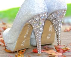 Hey, I found this really awesome Etsy listing at https://www.etsy.com/listing/167277848/personalized-bride-shoe-stickers-mrs