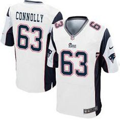 "$78.00--Dan Connolly White Elite Jersey - Nike Stitched New England Patriots #63 Jersey,Free Shipping! Buy it now:click on the picture, than click on ""visit aliexpress.com"" In the new page."
