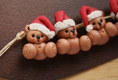 Santa Teddy Bear by Tina T.'s Polymer Clay, via Flickr