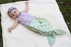 A Crafty Mommy: Halloween  Baby Mermaid Costume