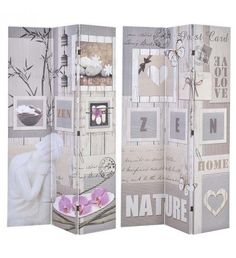 CANVAS PRINTED SCREEN NATURE 120X2X180 (DOUBLE SIDE )