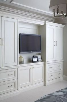 50 Comfortable and Suitable Wardrobe Design for Big amp; Small Bedroom 50 Comfortable and Suitable Wardrobe Design for Big amp; Bedroom Built In Wardrobe, Bedroom Built Ins, Bedroom Closet Design, Master Bedroom Closet, Tv In Bedroom, Trendy Bedroom, Wardrobe Storage, Bedroom Small, Tv Storage