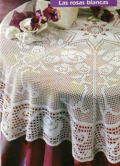 Home Decor Crochet Patterns - Part 2 - Beautiful Crochet Patterns and Knitting Patterns Crochet Tablecloth Pattern, Crochet Doily Patterns, Crochet Designs, Crochet Doilies, Crochet Eyes, Crochet Home, Thread Crochet, Mantel Redondo, Filet Crochet Charts