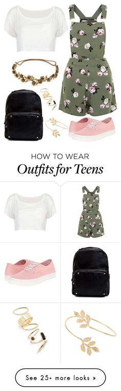 """Pain"" by staysaneinsideinsanity on Polyvore featuring New Look, Vans, Madden Girl, Jennifer Behr, Miss Selfridge, BP., pinafores and 60secondstyle"