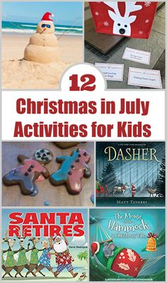 Fun ways to celebrate Christmas in July - books, activities and holiday-themed ideas for summer! Fun Indoor Activities, Summer Activities For Kids, Holiday Activities, Christmas Tale, Christmas Books, Christmas In July, Things To Do At Home, Fun Things, The Knight Before Christmas