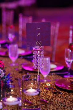 indian wedding table name number purple Jalebi #indianwedding