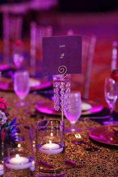 indian wedding table name number purple Jalebi #indianwedding