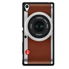 Tanned Leather Leica Camera TATUM-10460 Sony Phonecase Cover For Xperia Z1, Xperia Z2, Xperia Z3, Xperia Z4, Xperia Z5