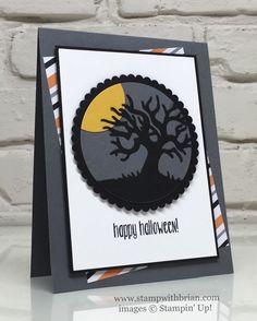 Halloween Scenes Edgelits, Spooky Fun, Stampin' Up!, Brian King, FabFri97