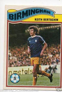 Keith Bertschin Birmingham 1970s football card