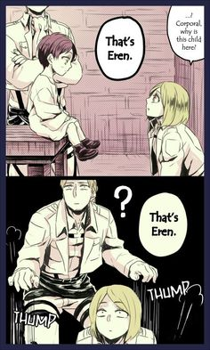 A comic about Eren who turned into a child by one of Hanji's experiments [Part 2 + Extra] #9