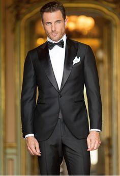 Black tuxedo test black suit dress, black tuxedo и wedding s Blue Suit Men, Black Suits, Black Tie, Mens Tux, Mens Suits, Men In Tuxedos, Black Suit Dress, Men Dress, Wedding Men