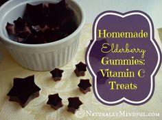 Homemade  Elderberry Gummies: Vitamin C treats! Includes elderberry syrup recipe - Naturally Mindful