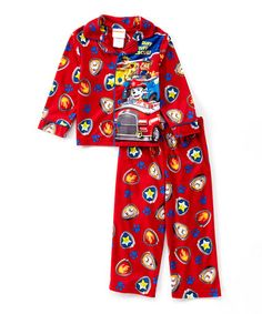 Love this Red PAW Patrol Button-Up Pajama Set - Toddler on #zulily! #zulilyfinds