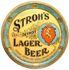 """""""Stroh's"""" typeface.  """"Brown Dog"""" was intended to be a craft beer type name."""