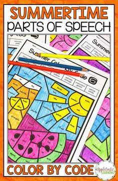 Coloring Activities for Elementary School Best Of Summer Coloring Pages Parts Of Speech Color by Number End Teaching Nouns, Teaching Resources, Teaching Ideas, Creative Teaching, Elementary Teacher, Elementary Schools, Upper Elementary, Reading Lessons, Reading Strategies
