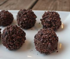 Brigadeiros, a raw vegan twist on Brazilian chocolate truffles