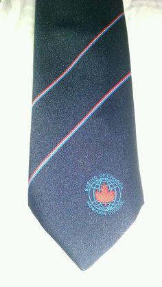 "Vintage Boeing Canada Tie Blue & Red 56 x 2.75"""
