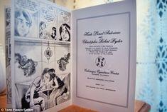 SUDDENLY... Custom comic book wedding invitation