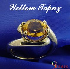 Beautiful Yellow Topaz Gemstone Ring