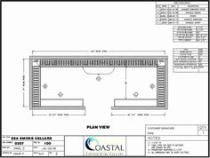A proposed design of Sea Smoke custom wine cellar. The designers decided to use different styles of wine racks to hold various sizes of wine bottles. Coastal Custom Wine Cellars 26222 Paseo Toscana San Juan Capistrano, CA California Office: