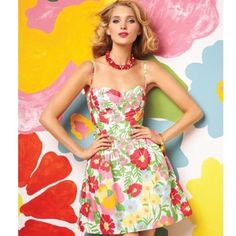 Colorful Lilly Pulitzer Bustier Dress