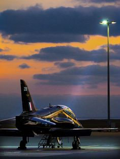 ☼ #aircraft Royal Air Force T1 Hawk Trainer Jet Aircraft by Defence Images #wings #aircraft #plane #sunset