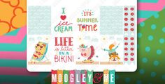 Summer Beach Planner Stickers Weekly Sticker Kit for Erin Condren Life Planner, Happy Planner, or any daily Planner by MoogleyandMe on Etsy