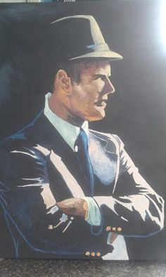 Original Art by Jodi Hess. Tom Landry