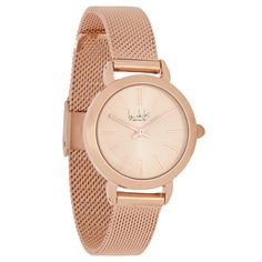 This stunning watch from designer range Principles by Ben de Lisi comes in rose with a mesh strap with a clasp fastening. With an analogue dial and a stainless steel case, this delicate watch will complete your outfit.