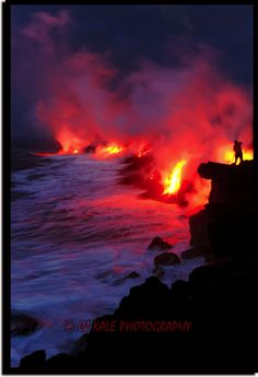 Picture of the Week! Check out this insane photo from Hawaii Activities! Hawaii Kilauea Volcano: New eruptions with hot red lava flow. Volcano National Park, National Parks, Volcan Eruption, Dame Nature, Nature Sauvage, Lava Flow, Big Island Hawaii, Natural Wonders, Amazing Nature