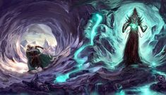 Drizzt and mindflayer by ~CarstenO on deviantART