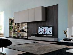 Mueble modular de pared composable montaje pared con soporte para tv CITYLIFE 13 - Doimo CityLine