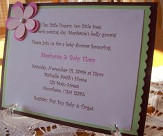 handmade baby shower invitations - Google Search