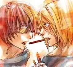 """Mello x Matt <===Mello's face is just like """"What the fuck are you doing."""""""