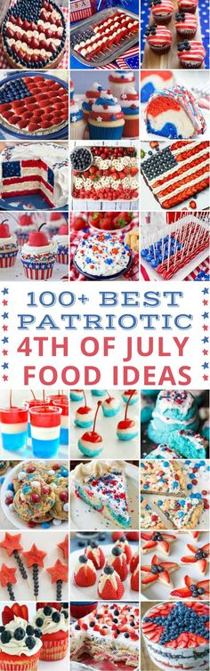 100 Best Patriotic of July Food Ideas 100 Cheap and Easy of July DIY Party Decor Ideas - Prudent Penny Pincher Patriotic Desserts, 4th Of July Desserts, Patriotic Crafts, Patriotic Party, July Crafts, Fourth Of July Food, 4th Of July Celebration, 4th Of July Party, July 4th