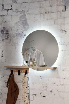 Decor, Diy Bathroom, Bedroom Gadgets, Home Crafts, Bathroom Improvements, Round Mirror Bathroom, Home Deco, Simple Bedroom, Mirror