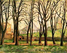Paul Cézanne - Chestnut trees at the Jas de Bouffan, c.1885-87
