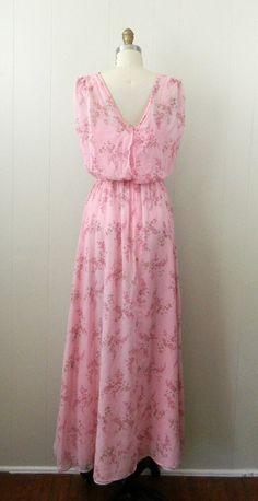70s Grecian Pale Pink Maxi Dress Queen of by bottleblondevintage, $35.00   oooooo yess