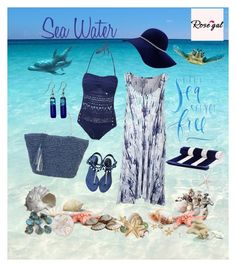 """""""Sea Water"""" by dobesht ❤ liked on Polyvore featuring Pearl Dragon, Oly, Chanel, Sun N' Sand and Black"""