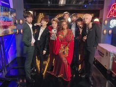 """September 13 2018 """"[ BTS on America's Got Talent! We're sending love to US ARMYs who sent us big cheers on a stage we stood on for the time. It was nice meeting the audience that got the time to have a good conversation with us at the Grammy Museum Seokjin, Kim Namjoon, America's Got Talent, Jung Hoseok, Bts Bangtan Boy, Jhope, Taehyung, Bts Aegyo, Hip Hop"""