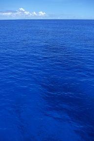 Água azul.