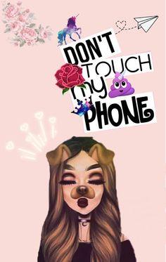 No toques mi teléfono!!! #fondo #fondosdepantalla #fondostumblr #IphoneBackgrounds