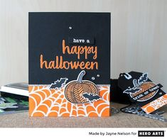 Happy Halloween by Jayne Nelson featuring partial stenciling